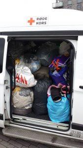 Butikken modtog tøj fra ti containere, og butikken endte med at få doneret 10 tons tøj