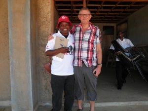 Tom Christensen og Thunya Phiri, RKHs kontaktperson i Malawi, som besøgte  RKH i efteråret 2015