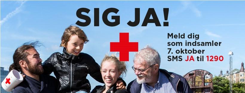 Sig Ja banner - Røde Kors Indsamlingen