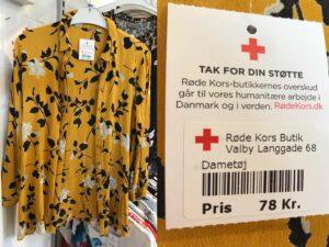 Når du køber genbrug, går pengene til Røde Kors' humanitære arbejde